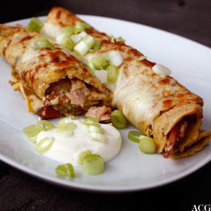 grover luksuspannekaker med bacon og gratinert ost