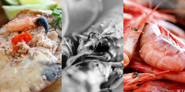 krabber, sjøkreps og reker