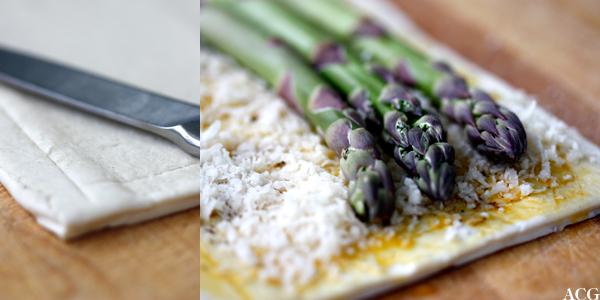 hvordan snitte tertebunnen til aspargesterte