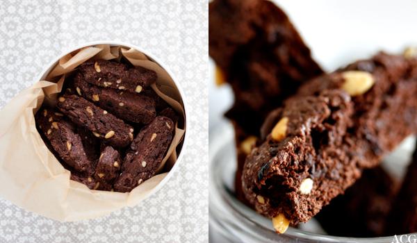 sjokoladebiscotti med oliven