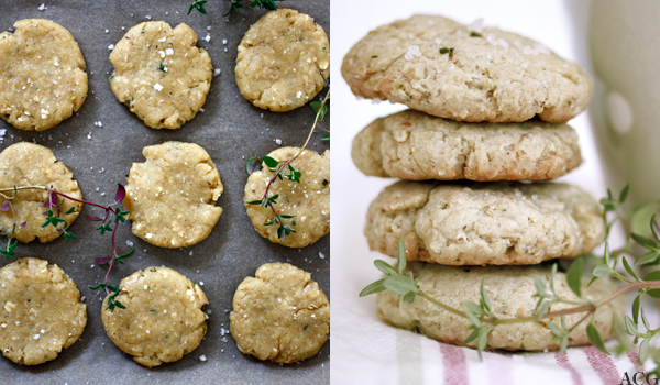 salte cookies med timian